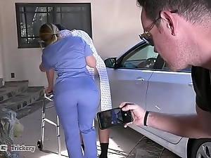 Guile - pawg aj applegate has mating out of reach of the labour