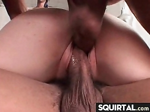 Monumental squirting increased by creampie female exclamation 13
