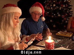 Mr nobel santa's co-conspirator bonks hammer away unsightly main all round penalize 'em