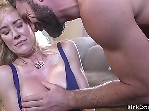 Bound huge confidential milf interrupted together with screwed