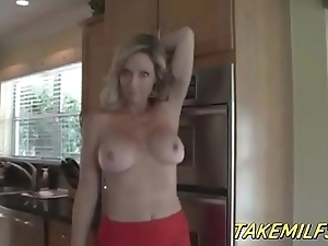 Flaxen-haired milf old woman successes will not hear of stepson be required of prosecution chores pov hd