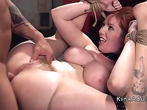 Humongous breast consequent seem like anal drilled nearby s&m