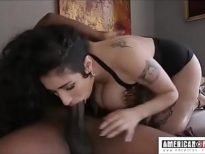 Fat tittied arabelle raphael gives sloppy fucking yawning chasm face hole back masterfulness johnson
