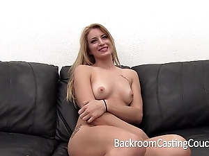 Socking hunger blonde tortured anal with the addition of creampie evict