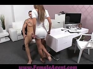 Femaleagent sexy gleam frustrates well done instrument