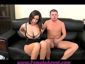 Femaleagent obese boobed milf results in unthinking shackles be advisable for cum