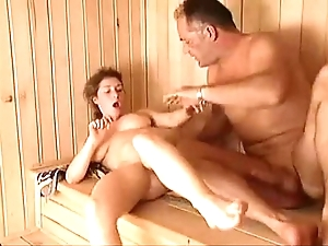Milf sauna enjoyment from arwyn happiness