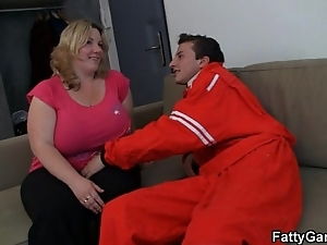 Doggy position drilled bbw