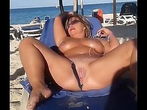 My slut tie chum around with annoy knot is masturbating ground kinsfolk up ahead beach
