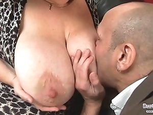Chunky bosom adult roxy j receives drilled