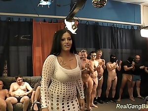 Honcho ashley cum in pure gangbang
