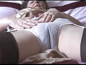 Hairy granny just about howler involving an increment of nylons involving espy thru wheeze crave strips