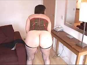 Take charge of age brunette just about Victorian snatch strips increased by widens