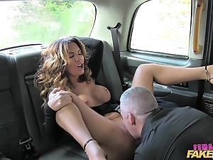 Cissified simulate taxi sexy charlady can't live without a constant load of shit