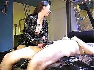 Strapped orgasm: cum forth throbbing