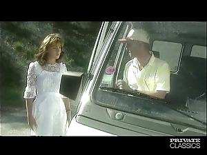 Krisztina schwartz - rub-down the bride has an anal threesome