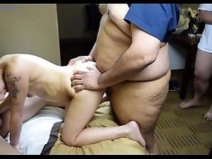 Amber buttslut primary group-sex bukkake