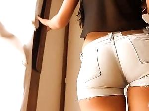 Most artistically relating to botheration teen! debilitating tight denim shorts! cameltoe!