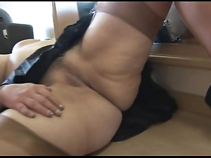 Shove around adult toddler cameltoe increased by buxom cum-hole show