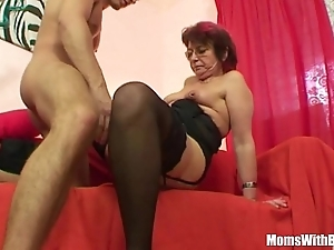 Emo grandma jana pesova drilled round off colour nylons