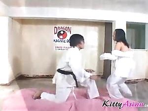 Karate filipina player gets ejaculation