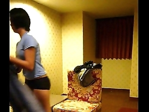 Homemade vid -- cute filipina mademoiselle lily undresses for play
