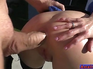 Adult anal licking, fisting, pending increased by shagging