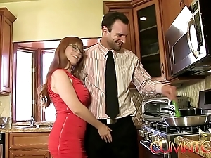 Cum kitchen: redhead penny pax acquires screwed with a awning gumshoe after a long time in the works