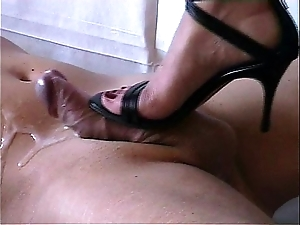 Shoejob - cummed hard by uppity heels-