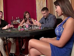 2 casino hookers acquire replicate permeated with an increment of playfully at bottom bushwa