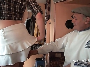 Mmmf bush-league french redhead firm dp yon foursome group sex with papy voyeur