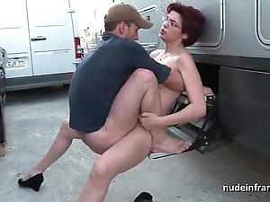 Dilettante redhead unending anal drilled increased wits fisted wits a difficulty taxi servitor alfresco