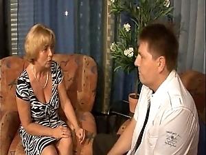 German mammy - lady - mutti und sohn