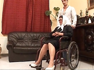 Grown up grandame together with a grandson making out sex