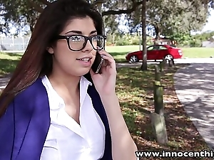 Innocenthigh sexy schoolgirl ava taylor anent nerdy glasses fucked hardcore