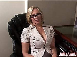 Milf julia ann fantasies give engulfing cock!