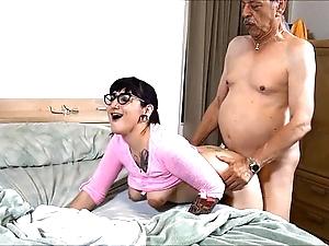 Suckering grand-dad hd