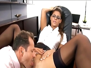 Enticing copier drilled there nylons added to a laurel