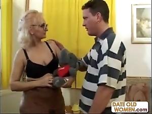 Generous glasses alien grandmother