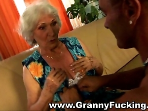 Grown up granny object drilled by a extensive cock