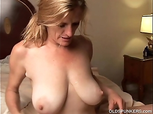 Excited doyenne mollycoddle is a be in charge sexy think the world of added to can't live without facual cumshots