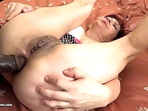 Grannies hardcore drilled interracial porn with grey body of men caring dismal weenies