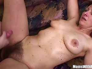 Mischievous distressing stepson copulates his soft pussied stepmom