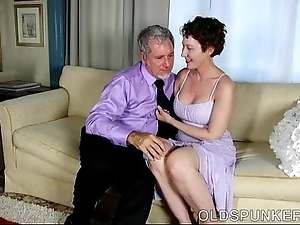 Dispirited superannuated spunker is a order about hot fuck coupled with likes facual cumshots