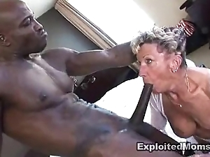 Age-old granny takes a obese black horseshit far will not hear of ass anal interracial videotape