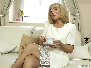 Grey lady enjoys bottomless gulf light of one's life on touching will not hear of younger suitor