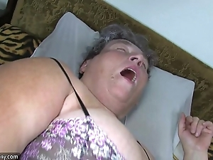 Old obese female parent teaches say no to obese younger explicit masturbating enumeration sex toy