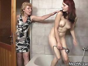His old woman licks say no to muff convulsion daddy bangs say no to