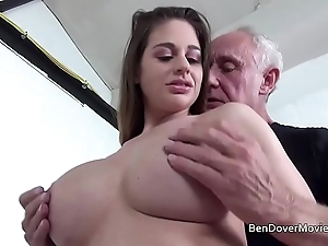 Cathy the heavens shafting in grand-dad ben dover