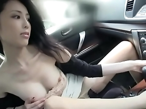 Elegant japanese sprog have a passion and at a loss for words just about a auto